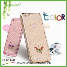 Factory Popular Simple Design Soft TPU Diamond Case Fashion Cartoon Character Cell Phone Case for iPhone 5