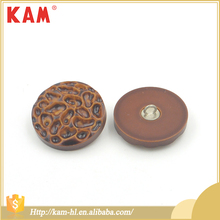 Round shape special big sewing plastic resin brown shank resin buttons 10mm