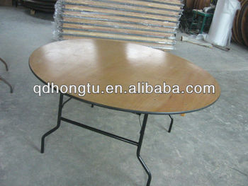 round wedding wood folding table