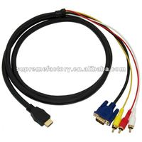 For 1.8M HDMI to 3-RCA VGA CableA