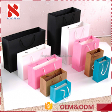 2017 Wholesale Foldable New products Colorful paper kraft shopping bags made in China