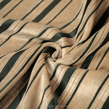 Pure pinstripe pattern chenille jacquard fabric using for living room curtain sofa cushions