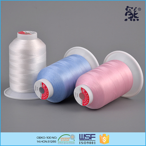 120D/2 tex27 ticket110 china eco friendly 100% polyester sewing thread for embroidery
