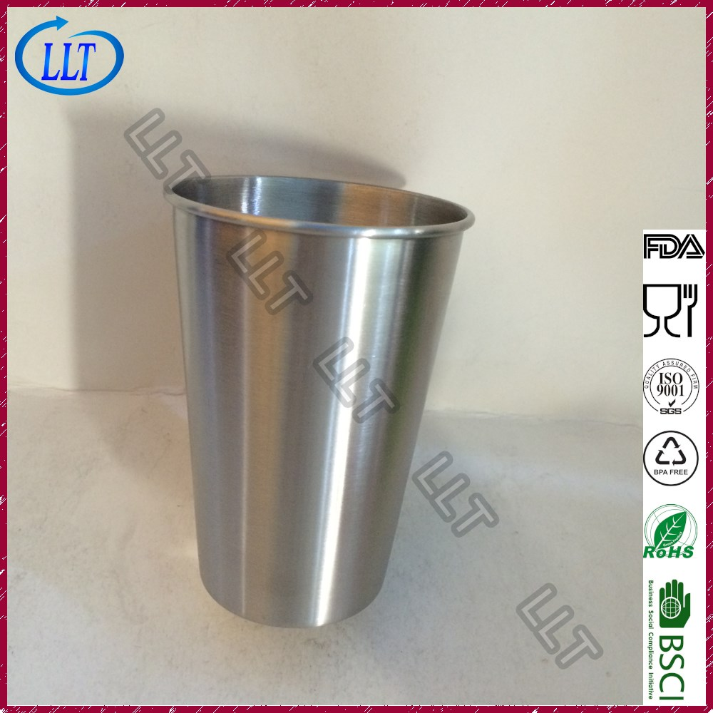 10oz/16oz/20oz Single Wall Stainless Steel Cups Pint Glasses