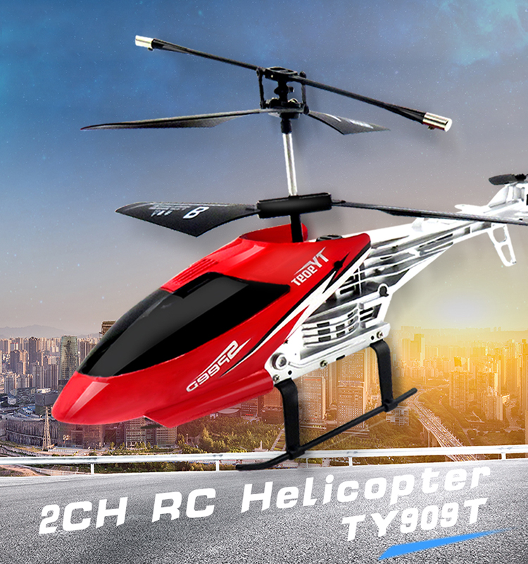 Flytec TY909T RC Helicopter 2CH Helicopter Hot Sale Remote Control Toy Red