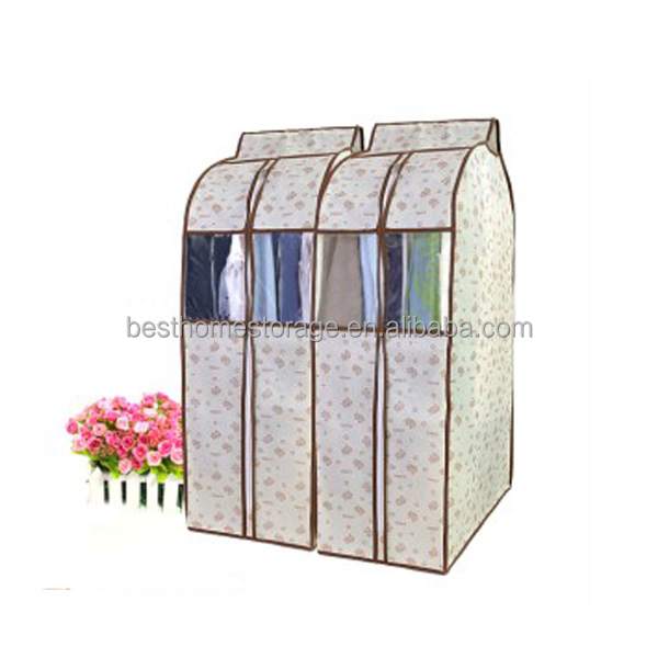 Wholesale Customized Non-woven Fabric Suit Cover Garment Clothes Bag With Clear View Window