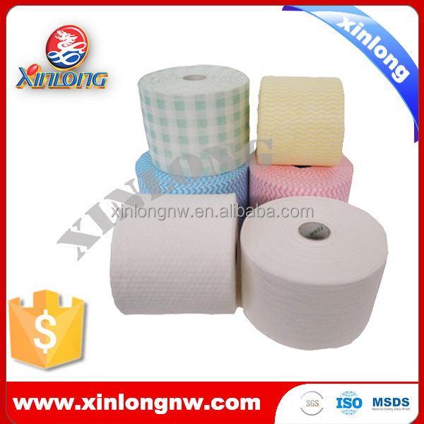 Softly spunlace nonwoven roll for hospital