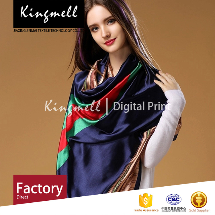 Custom-made digital print silk heated scarf and fashion shawl
