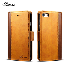 Leather mobile phone case 7 cover for iphone 8 Flip phone case
