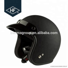 Matte black double ABS material half face Vintage helmets with visor