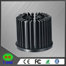 Forging black anodization cnc lathe precision machining heatsink prototype parts for LED light