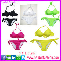 hot summer candy colors cute swimwear new brand sexy girl bikini