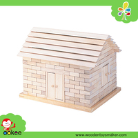 DIY Wood Exquisite Craft Miniature Doll House Wooden Construction House Toys Wholesale