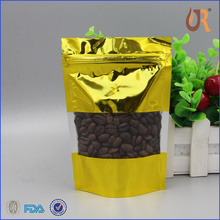 Superior Quality Wholesale Plastic Customized Silver Ziplock Roast Ground Coffee Bag Singapore For Coffee
