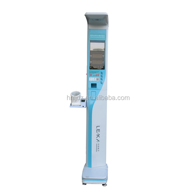 Electronic height weight bmi blood pressure machine hospital medical body scale