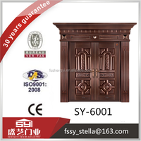 antiquity copper designs double gate open doors