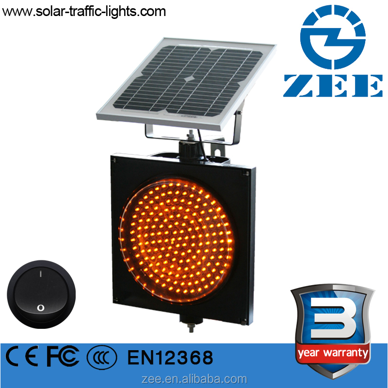 300mm amber solar traffic flashing light solar traffic beacon