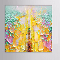Elegant noble pink yellow classic hand-painted oil painting Eiffel Tower 100% handmade decoration oil painting in canvas
