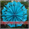 "Hot sale 12"" Turquoise Pinwheel Paper Flower Rosettes Hanging Decoration"