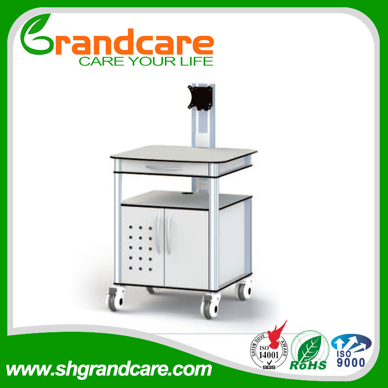 Popular Series Computer Carts For Hospitals Stainless Steel Hospital Trolley Fire prevention G-TD006