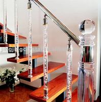 Modern Fashion Clear Crystal Stone Roman Pillar Glass Decoration Stairing