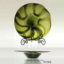 Popular wholesale blown glass plate wall decoration art