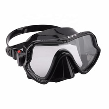 China Wholesale Diving Scuba with Silicone Skirt and Strap HD Tempered Glass Adult Scuba Diving Mask
