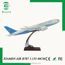 Art boeing display resin crafts handmade diecast 40CM 1/155 tiny model airplane kits for adults