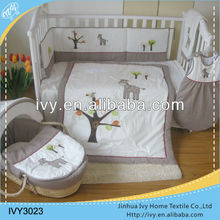 European Style Cotton Crib Baby Bedding Set