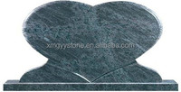 Bahama blue granite heart shape headstone