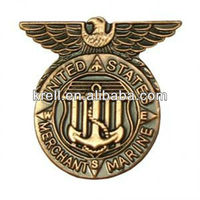 custom metal marine mark badge with cheap price and fast delivery