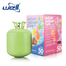 Small disposable gas cylinder filling with pure helium tanks balloons kit