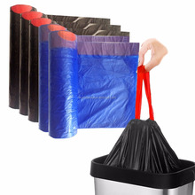 Trash Bags Kitchen 13Gallon Drawstring Bin Liner Thickness ,Colored Trash Garbage Wastebasket Bags with Handle-tie