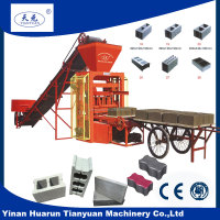 QTJ4-26C concrete hollow blocks dimensions/concrete paver block forming machine