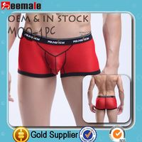 Free Sample Picture Of Men's Maximum Exposure Underwear Sexy Penis Manview Underwear SM01-4