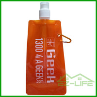 2016 Customized sports bpa free portable foldable water bottle with logo