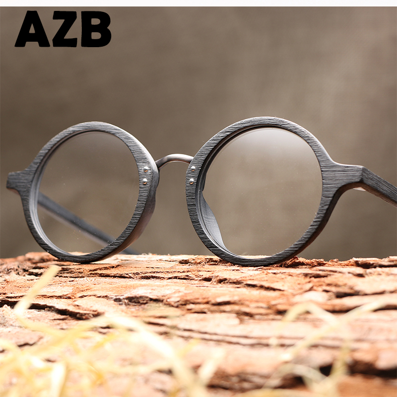 AZB brand Design round acetate spectacle glasses frames for myopia prescription optical eyeglasses frame unisex
