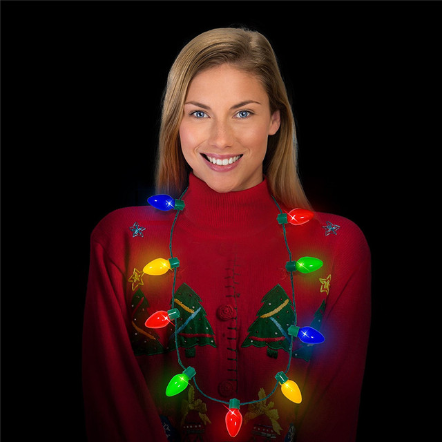 Birthday party christmas include batteries light-up toys led necklace for kids and adult