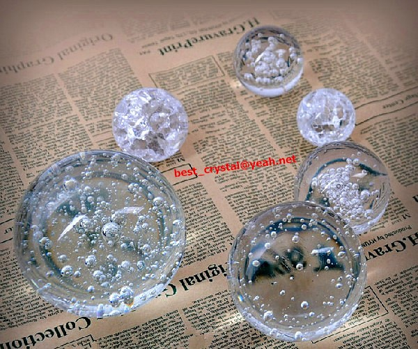 Wholesale Decorative K9 Quality 80mm 100mm 120mm 150mm Crystal Glass Bubble Ball