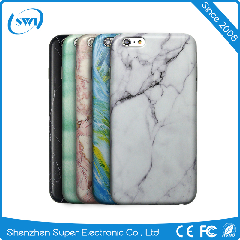 Low China Price Marble Pattern Slim TPU Protective Case Cover Shell For iPhone 5 6 6S Series