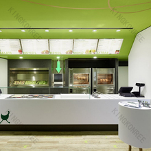 Popualar and pretty fast food restaurant reception counter/food service counter
