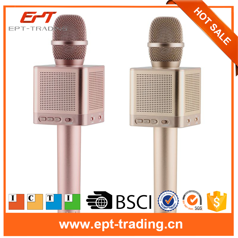 High quality handheld magic bluetooth lapel microphone karaoke for sale