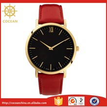 Wholesale High Quality Quartz Custom Leather Unisex Vogue Watch