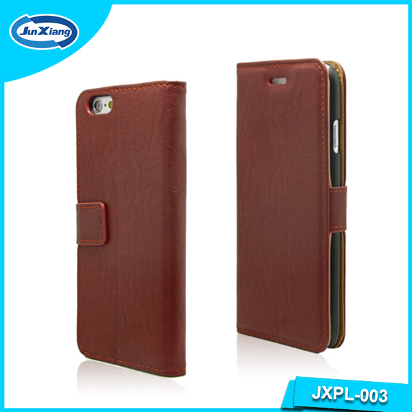 Flip Wallet Leather Mobile Case for iphone 6, Customized Package Available