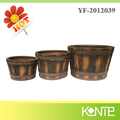Chinese new style faux-wood garden pots