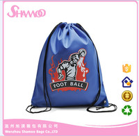 Promotional cute polyester drawstring bag for student