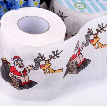 Novelty Gift Fancy Christmas Print Toilet Paper