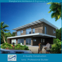 steel structure house,luxury house,luxury and modern prefabricated steel structure house/villa