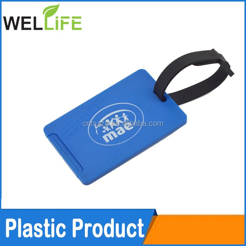 2016 new gifts item plastic printed shaped luggage tag