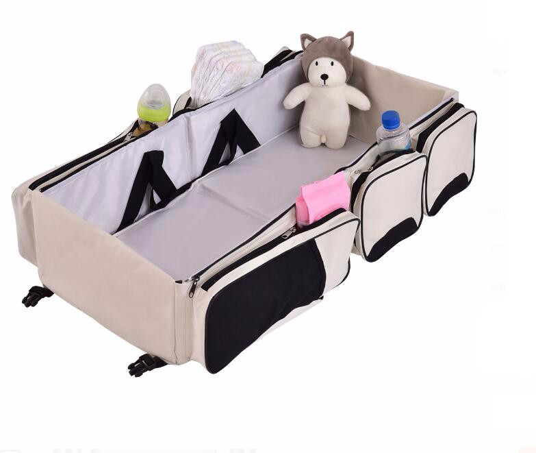 3 in 1 Portable Infant Changing Station Nappy Travel Baby Bassinet Diaper Bag